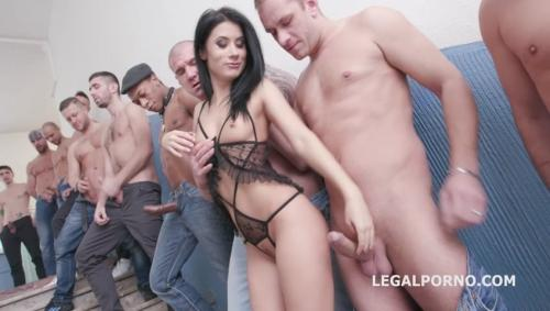 Nicole Black lesson number 8, 10on1 Gangband DAP Balls Deep Anal TP DAP Gapes Swallow GIO576 [LegalPorno.com/2018]